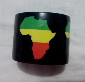 Africa Map Cuff Bracelet