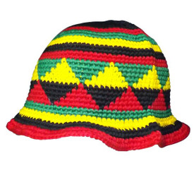 "Rasta Fisherman Hat  100%  Cotton  Fits 22-24"" Circumference  Made in Indonesia"