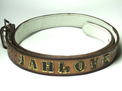 Genuine Leather Engraved Belts  Genuine Leather Engraved Belt with AFRICA, JAH LOVE print. Various sizes available up to size 44 waist.