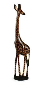 """24"""" hard carved giraffe."""