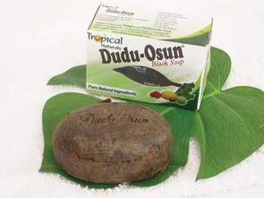 The #1 top product; Step up to purely soft skin Enjoy the ultimate luxury with our newest Dudu Osun black soap. Specially formulated entirely from natural ingredients and herbs, this soap will have you feeling refreshed and silky smooth. Restores damaged skin and is helpful in healing chronic eczema, acne, freckles, and dark spots. Scented with osun (camwood extract), citrus juices, and native honey. With aloe vera and natural vitamins. Made in Nigeria Approx. 6.5 oz. ALL NATURAL INGREDIENTS: Pure honey, Shea butter, Osun (Camwood), Potassium Palmkernelate, Sodium Palm Kernelate, Glycerine, Aloe Vera, Lime Juice, Lemon Juice, Water and Essential Oils for Fragrance.