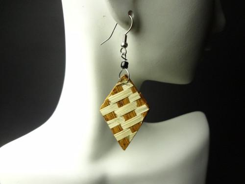 """1"""" bamboo handmade earrings....Styles may vary."""
