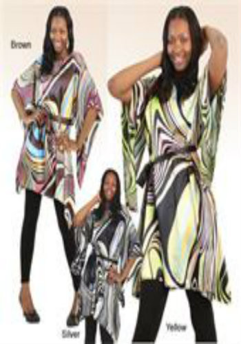 Fits up to a 56'' bust and 42'' length. 100% Polyester.