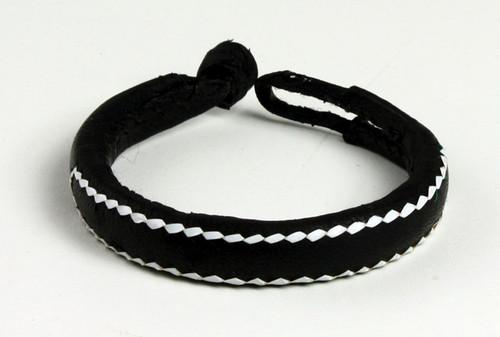 Black Nigerian Leather Bracelet