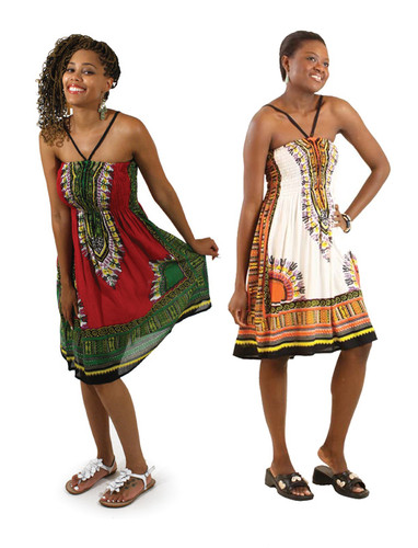 Traditional Print Short Sundress