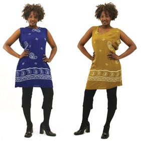 Batik Crinkle Dress-Olive