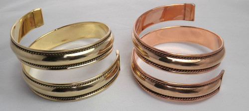 Gold or Silver with larger opening.