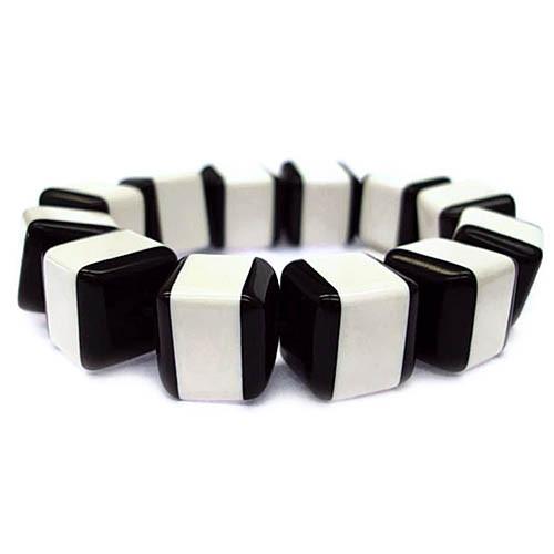 Black/White Block Bracelet