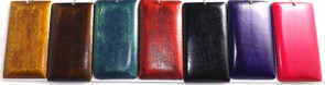 Medium Brown, Dark Brown, Navy Blue, Deep Red, Black, Purple and Fuchsia