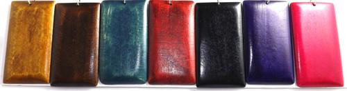 Medium Brown, Dark Brown, Navy Blue, Deep Red, Black, Purple and Fuchsia