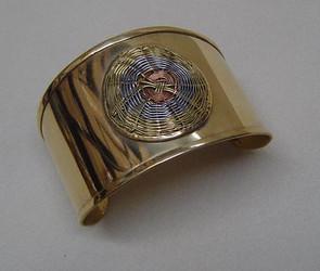 Gold Tone Woven Cuff