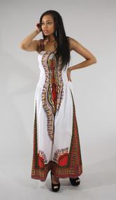 Traditional Thailand Print Long Dress