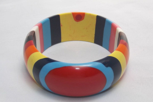 Children's bangle bracelet with small opening.