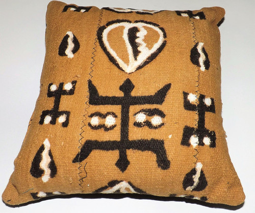 """12"""" Handmade Mudcloth Throw Pillows  Accent your home with custom mud cloth pillows from Mali. A perfect complement to your couch/sofa.   Wipe with vinegar to clean when needed."""