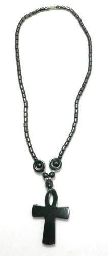 """10"""" choker style necklace...made of hematite metal."""