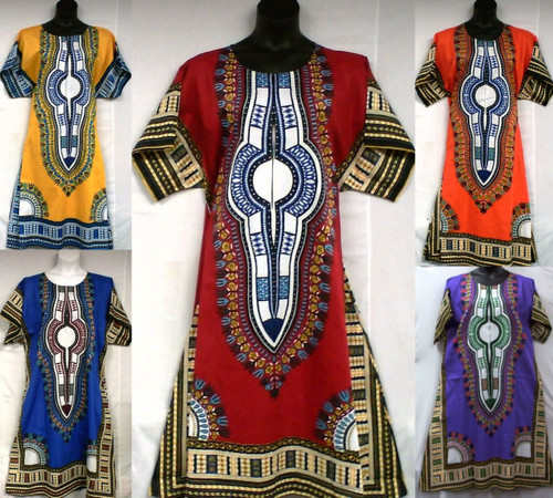traditional african dashiki dresses traditional african print style round neck short sleeved dress