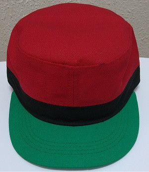RBG Cap  Pan African red/black/green baseball cap; pan african colors makes this hat stand out; very lightweight material and has velcro closure.