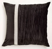 Tiara Black European Pillowcase