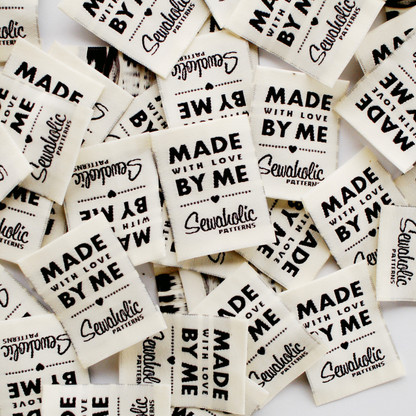 Sewaholic Patterns sew-in clothing labels - 'Made with Love by Me'