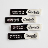 """Handmade With Love - Sewaholic"" Woven Clothing Label - Pack of 4 Sew-In Labels"