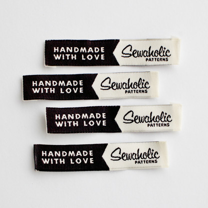 Handmade With Love Sew In Fabric Label For Clothing