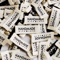 Sewaholic Patterns sew-in clothing labels - 'Handmade with Love'