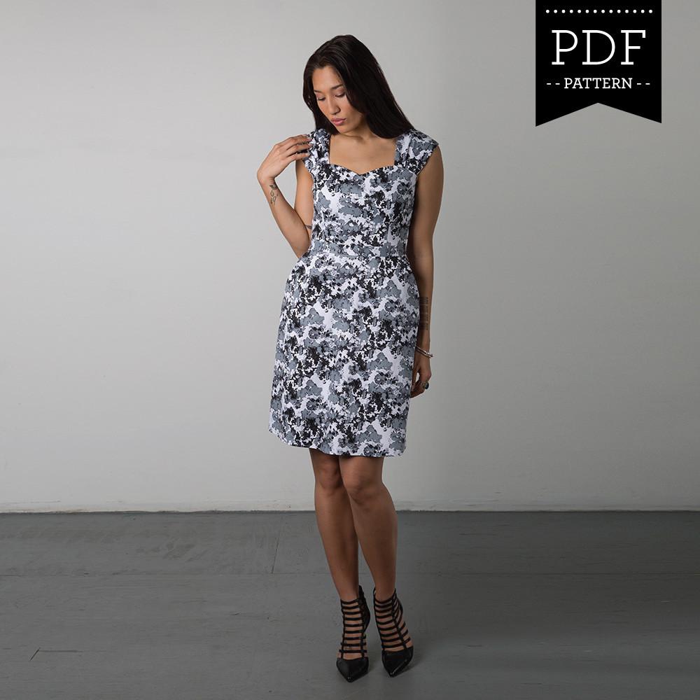Cambie Dress Sewing Pattern By Sewaholic Patterns, A