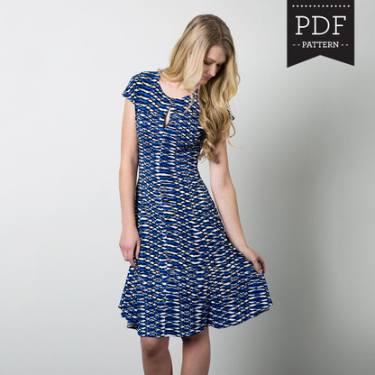 Davie Dress by Sewaholic Patterns, View A