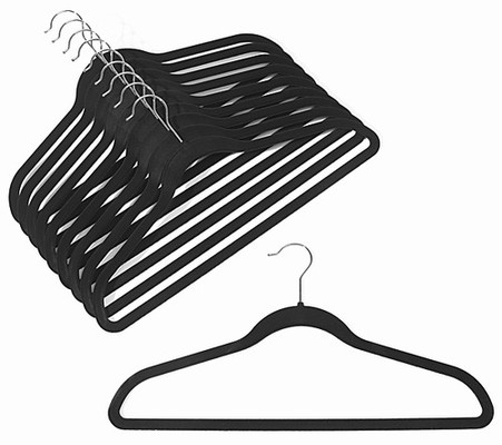 BLACK VELVET HANGERS WITH BAR