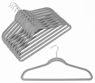 Platinum Velvet Suit Hangers (Sold in Bundles of 20/50/100)