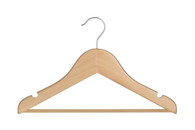 36 CM Baby Beech Wood Hanger With Bar (Sold in Bundles of 25/50/100)