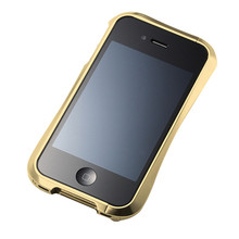 DRACO 4 Handcraft Aluminum Bumper - for iPhone 4 (Gold)