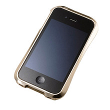 DRACO 4 Limited Handcraft Aluminum Bumper - for iPhone 4 (Luxury Gold)