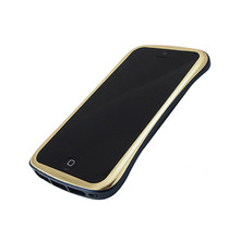 DRACO ELEGANCE Aluminum Bumper - for iPhone SE/5S/5 (Gold/Blue)