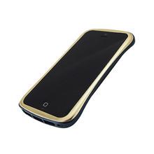 DRACO ELEGANCE Aluminum Bumper - for iPhone SE/5S/5 (Gold/Blue)