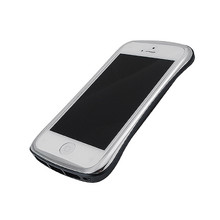 DRACO ELEGANCE Aluminum Bumper - for iPhone SE/5S/5 (Silver/Black)