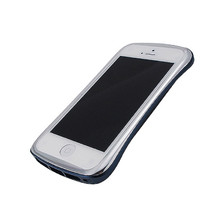 DRACO ELEGANCE Aluminum Bumper - for iPhone SE/5S/5 (Silver/Blue)