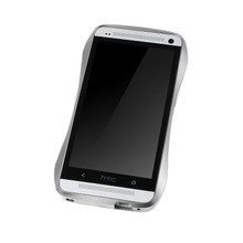 DRACO ONE Aluminum Bumper - for HTC ONE (M7) (Silver)