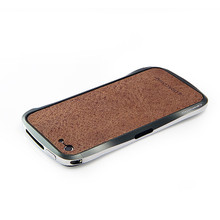 DRACO VOGUE Leather Skin Guard - for iPhone 5 (Brown)
