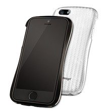 DRACO ALLURE A Aluminum Bumper Case  - for iPhone 5/5S (Black/White)