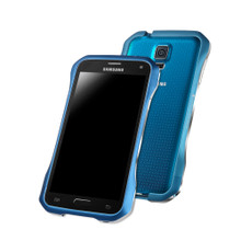 DRACO SUPERNOVA Aluminum Bumper - for Samsung Galaxy S5 (Electric Blue)