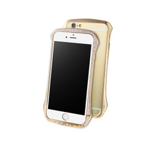 DRACO ETERNITY Hand Polishing Aluminum Bumper made with 361 pcs Swarovski zirconia For iPhone 6/6S - Luxury Gold