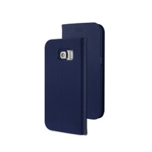 TIGRIS PU FLIP CASE FOR GALAXY S6 EDGE-DEEP BLUE