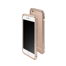 DRACO ASTRAL HAND POLISHING ALUMINUM BUMPER MADE WITH 101 PCS SWAROVSKI ZIRCONIA FOR IPHONE 6S/6 - LUXURY ROSE GOLD