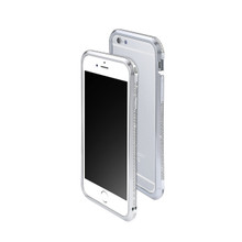 DRACO ASTRAL HAND POLISHING ALUMINUM BUMPER MADE WITH 101 PCS SWAROVSKI ZIRCONIA FOR IPHONE 6S/6 - LUXURY SILVER