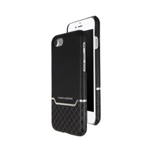 VENANO B Top Grain Back Cover Leather Case for iPhone 7/8-Meteor Black