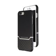 VENANO B Top Grain Back Cover Leather Case for iPhone 7 Plus /8 Plus-Meteor Black