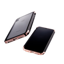 AERO Dual Protection Hybrid Metal Bumper Case for iPhone Xs Max - Polished Gold
