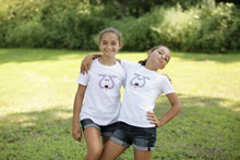"Our twin ""Playful Puppy"" youth tee. This Playful Puppy is designed with the number 2, of course, giving it cuteness X2!"