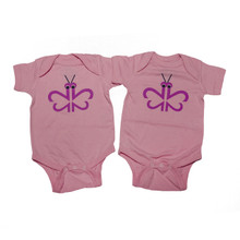 "Pink Twin ""Busy Butterfly"" Bodysuit SET"